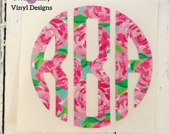 Lilly Pulitzer Inspired Monograms
