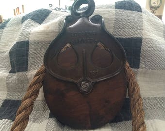 Vintage Loudens Mammoth Pulley. Free Shipping!