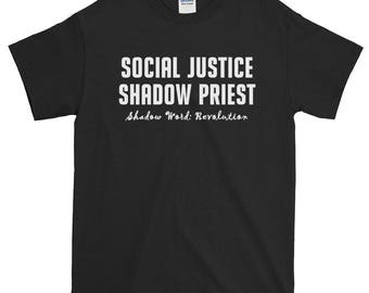 Social Justice Shadow Priest Unisex Short-Sleeve T-Shirt dnd, d&d, dungeons and dragons, rpgs, rpg, roleplaying
