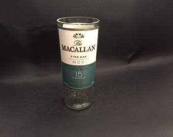 HANDCRAFTED Candle UP-CYCLED The Macallan Fine Oak 15 Year Scotch Whiskey Soy Candle. Made To Order !!!!!!!