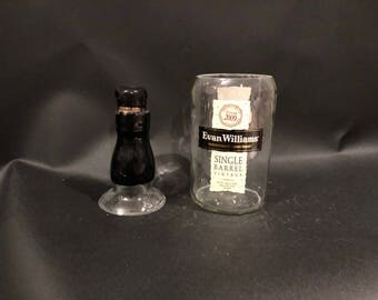 Evan Williams Candle Single Barrel Bourbon Whiskey BOTTLE Soy Candle With/Without Attached Pedestal Base. 750ML. Made To Order
