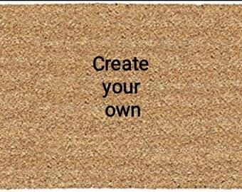 Personalised create your own  doormat