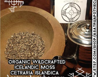 Organic Wildcrafted Icelandic moss 1 0z (Cetraria islandica) // Iceland Moss // Cetraria islandica // herbal tea // Viking Tea // soup herb