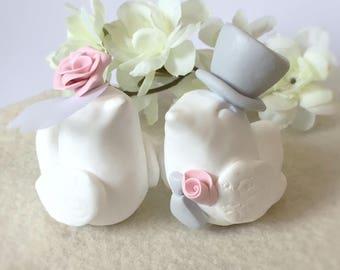 Clay Love Birds Bride and Groom- Personalised