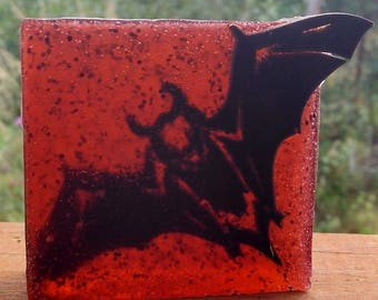 Halloween Bat Soap, Red Soap, Black Soap, Halloween Bathroom Decor, Halloween  Decoration