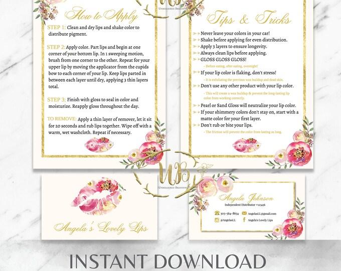 Featured listing image: Floral and Cream LipSense SeneGence Starter Bundle