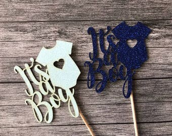 It's a Boy Cupcake Toppers, Baby Shower Cupcake Topper, Baby Shower Decorations, Gender Reveal Decorations