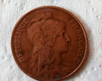 Republique Francaise Coin 10 C French Coin 1916
