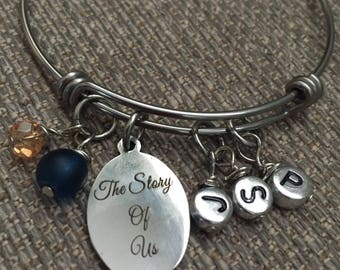 Create Your Own Story Family Stainless Steel Bangle Bracelet