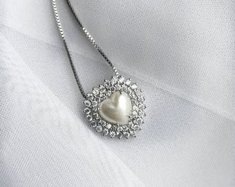 Silver chain and Zircon necklace, Silver Jewelry and gemstones