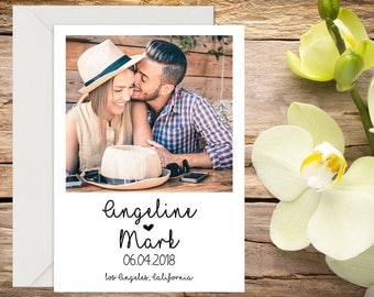 Photo Save the Date with Setup,  Classic Wedding, Romantic Wedding, Save the Date Template, Save the Date Card, Save-the-date