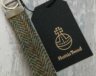 Harris Tweed wristlet