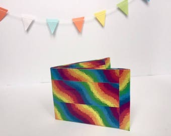 Rainbow Duct Tape Wallet, all profits go to charity