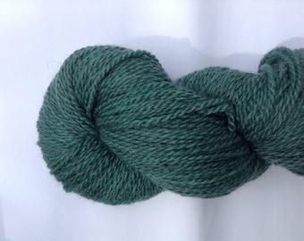 Hand-dyed BFL/Masham, DK weight. 100g/240m 'teal bottom'