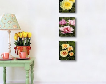 Pink and Yellow Flower Set