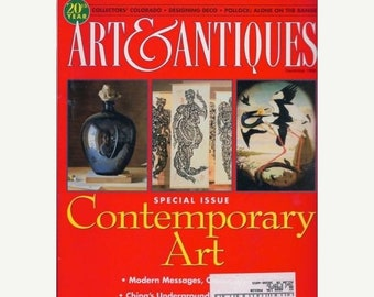 The Art & Antiques Magazine December 1998 Special Issue -Contemporary Art Collector's Colorado-Desiging Deco-Pollock: Alone on the Range