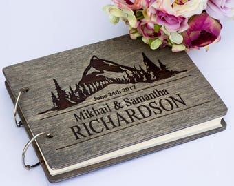 Wedding Guest Book, Engraved Wedding Guest Book, Custom Wedding Guest Book, Wedding Guest Book Ideas, Rustic Wedding Guest Book