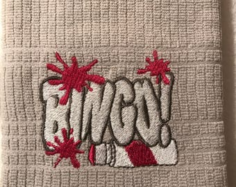 Embroidered Kitchen Towels. Set of 2.