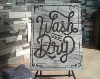 Wash & Dry/Vintage Laundry Room Sign/Wooden Sign/Distressed/Shabby Chic Laundry/Rustic Decor/Laundry Room Decor/Gift for Her/Farmhouse Decor