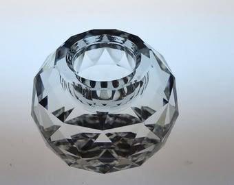 Swarovski Crystal Candleholder-Swarovski Global-Swarovski Candleholder-Crystal Candleholder-Crystal Global 132-Vintage -Silver Bay CrystalsI
