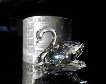 Swarovski Silver Crystal ~ Large Swan ~ Stunning !- Crystal Swan-Vintage Swan-Designer Max Shreck-Beauties of the Lake-Large Crystal Swan