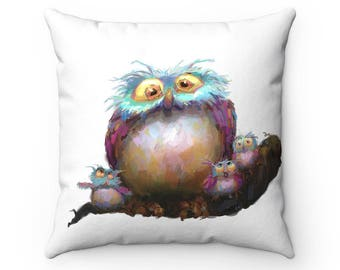 Baby shower gift throw pillow, Owl decorative pillow, Nursery Decor, cute accent pillow, Baby Shower, Baby girl, baby boy