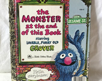 1971 First Edition Little Golden Book, Sesame Street; The Monster at the end of this Book