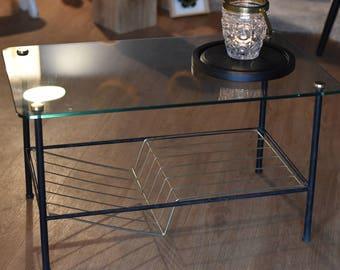 Table basse en verre P. Guariche