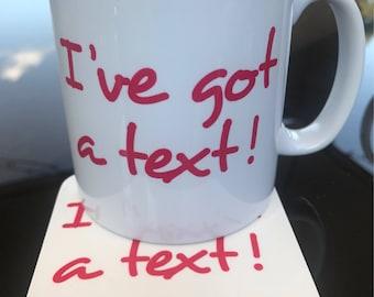Love Island - I've Got a Text - mug and coaster gift set