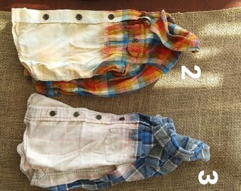 2 T dipped dyed toddler flannels
