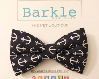 Nautical anchors Dog Bow Ties