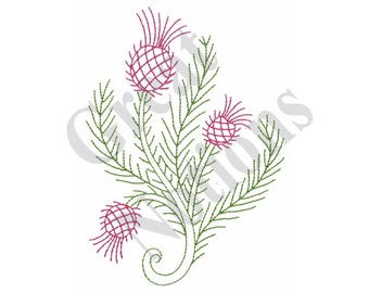 Thistle Outline - Machine Embroidery Design