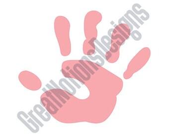Child's Handprint SVG - HTV - Vinyl Cutting Graphic Art