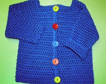 "Crochet baby sweater ""Ares"""