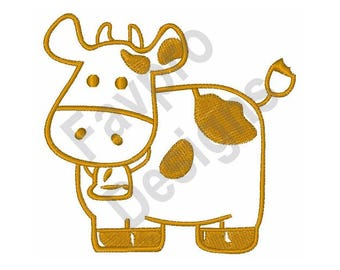 Cow Outline - Machine Embroidery Design