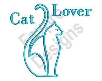 Cat Lover - Machine Embroidery Design