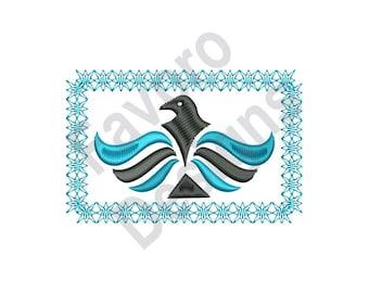 Eagle Rectangle - Machine Embroidery Design