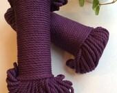 Plum Purple* 5mm cotton rope, 60 meters, coloured cotton, Macrame supplies