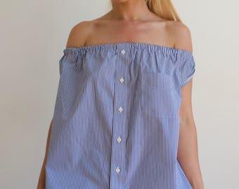 Reworked Vintage Striped Dress