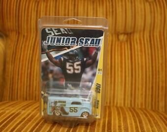 Junio Seau Custom Toy San Diego Chargers NFL Football 1990s Diecast Car Jack Murphy Stadium Stan Humphries Natrone Means