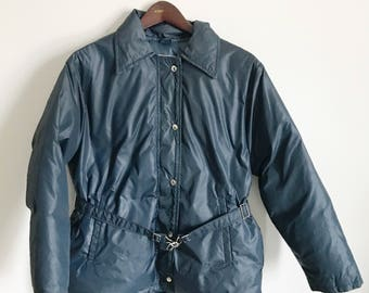 Vintage 60's Abercrombie & Fitch Down Jacket Navy Blue Size Large med