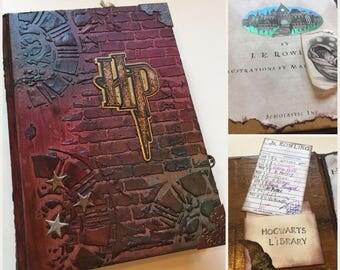 HARRY POTTER Inspired Scrapbook/Junk Journal Hard Cover 5x7 Album