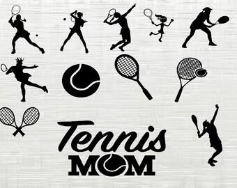 Tennis girls svg bundle, Tennis clipart,  Womens Tennis svg cutfiles for silhouette, cricut download, svg files, dxf, png, cut files, vector