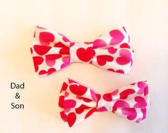 Bow Tie, Mens Bow Tie, Dad and Son Bow Tie, Dog Bow Ties, Matching Dog Bow Tie, Valentines Bow Tie, Dog Bowtie, Bowtie, Boys Bow Tie  DS746