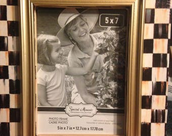 Black and White Check Picture Frame