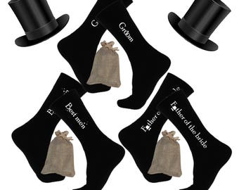 Groom Socks Father of the bride Socks Best Men Socks Black Wedding Socks aisle socks Groom Gift socks Wedding Gift From Bride Wedding Gift