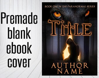 Premade Blank Ebook Cover - Wolf & Maiden