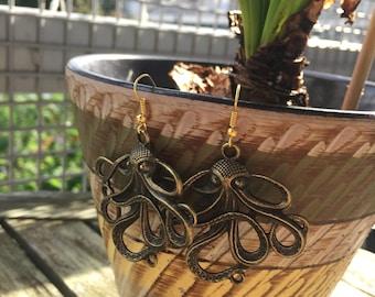 Bronze Kracken Earrings