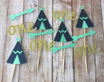 Wild one cupcake toppers