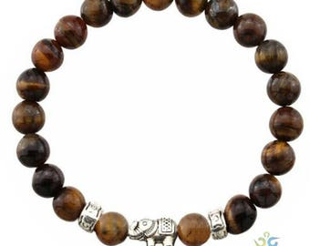 Yoga bracelet/tiger eye bracelet/positive bracelet